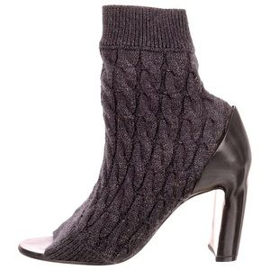 Maison Margiela Knit Peep-Toe Booties
